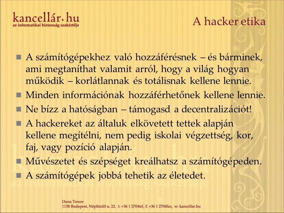 A hacker etika