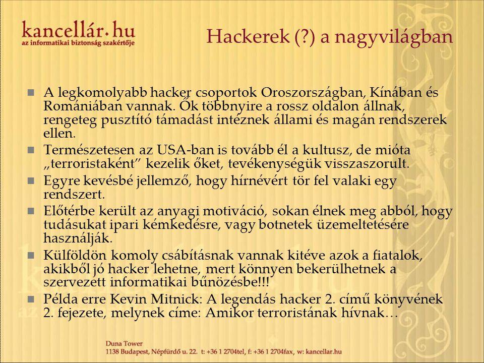 Hackerek ( ) a nagyvilágban