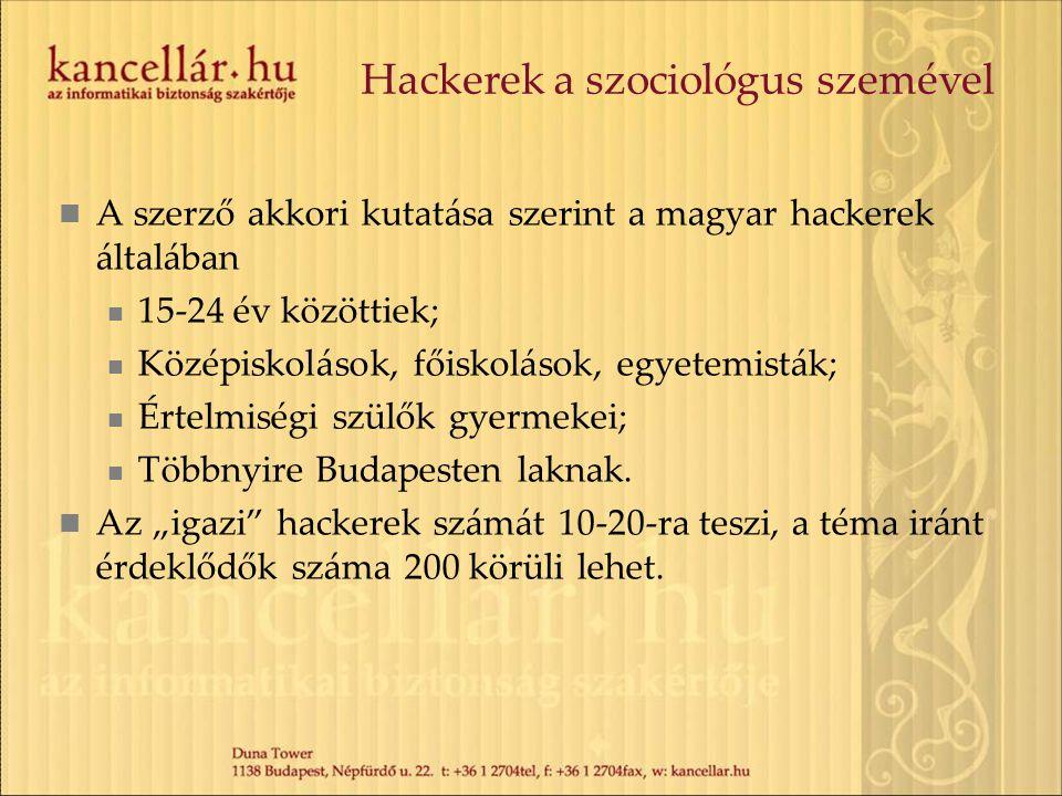 Hackerek a szociológus szemével