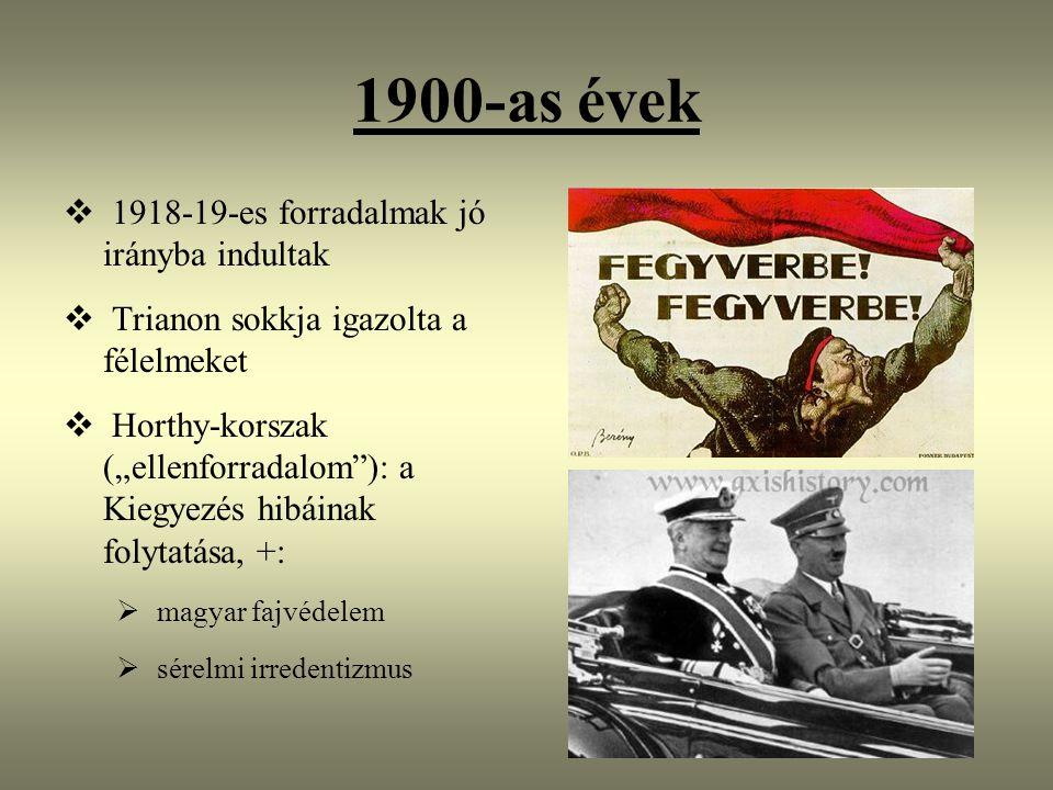 1900-as évek 1918-19-es forradalmak jó irányba indultak