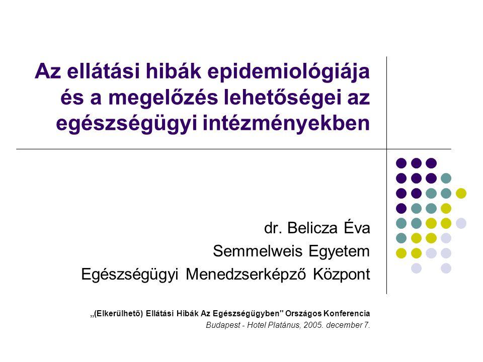 Az ellátási hibák epidemiológiája és a megelőzés lehetőségei az egészségügyi intézményekben
