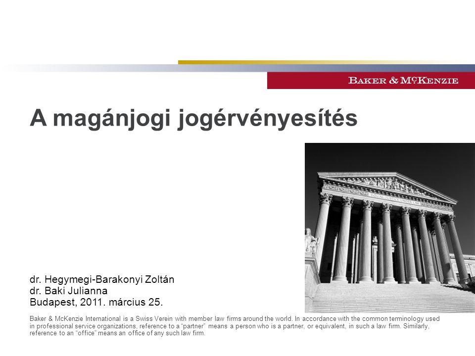 A magánjogi jogérvényesítés