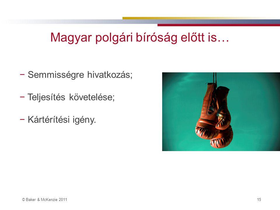 Magyar polgári bíróság előtt is…