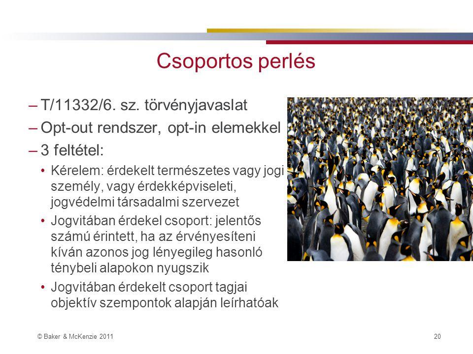 Csoportos perlés T/11332/6. sz. törvényjavaslat