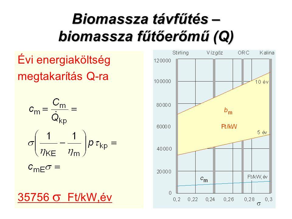 Biomassza távfűtés – biomassza fűtőerőmű (Q)
