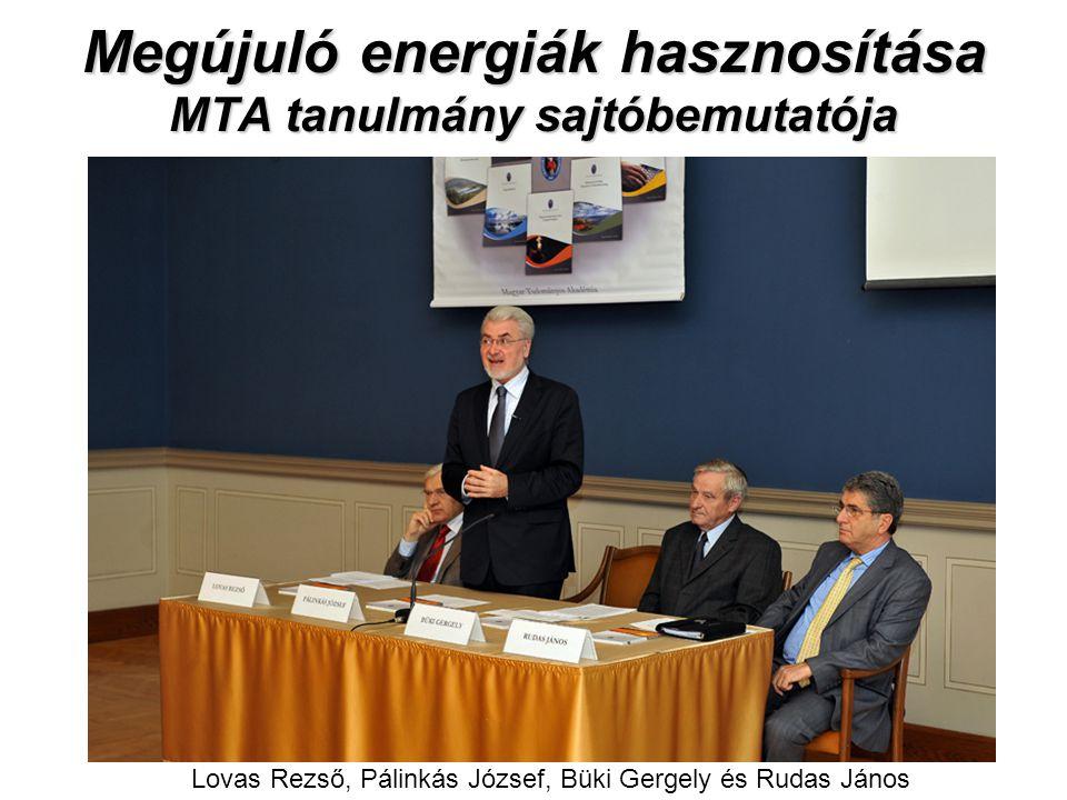 Megújuló energiák hasznosítása MTA tanulmány sajtóbemutatója