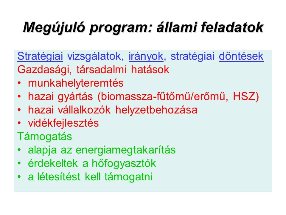 Megújuló program: állami feladatok