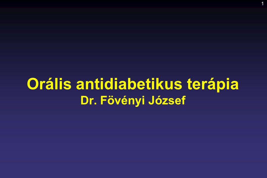 Orális antidiabetikus terápia Dr. Fövényi József