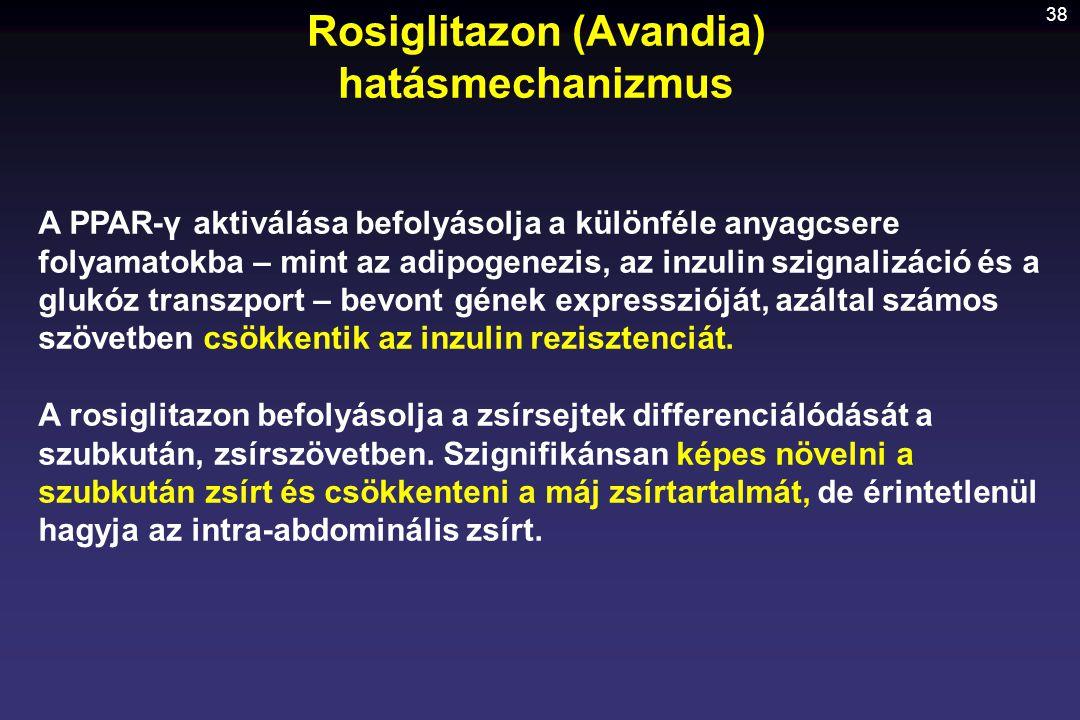 Rosiglitazon (Avandia) hatásmechanizmus