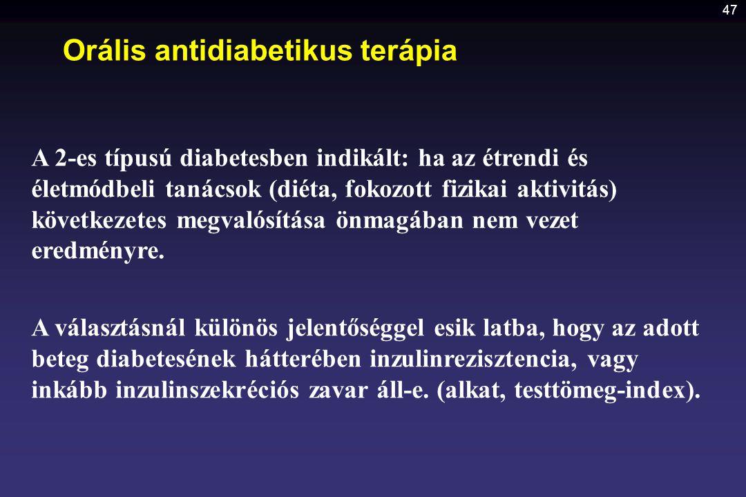 Orális antidiabetikus terápia