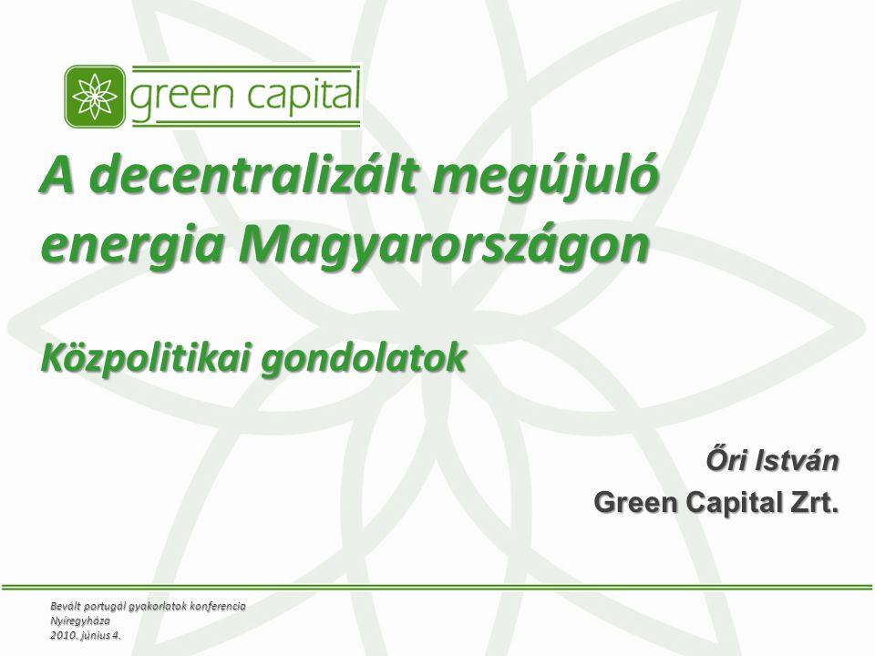 Őri István Green Capital Zrt.