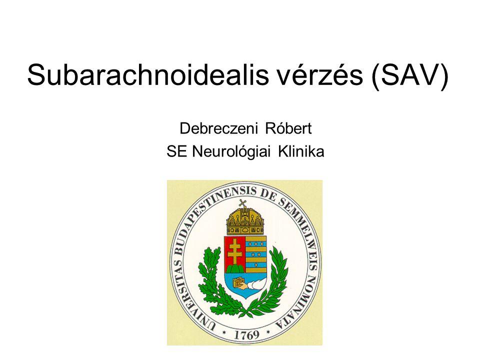 Subarachnoidealis vérzés (SAV)
