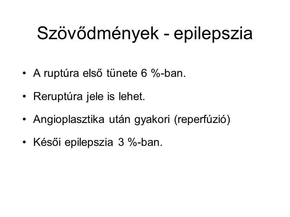 Szövődmények - epilepszia