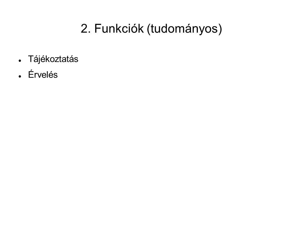 2. Funkciók (tudományos)