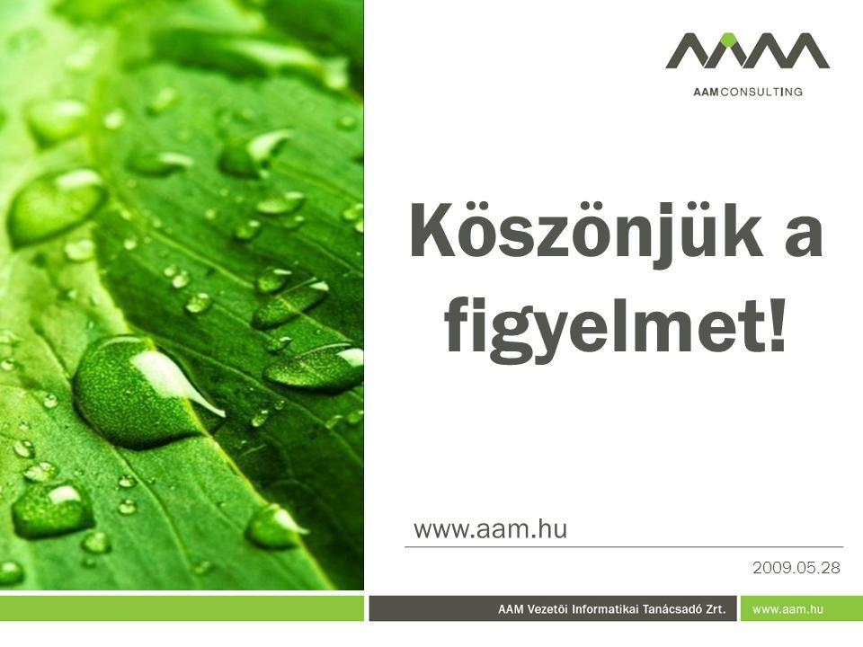 Köszönjük a figyelmet! www.aam.hu 2009.05.28