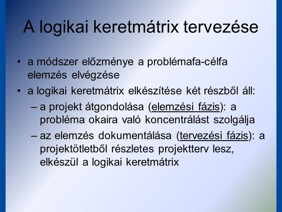 A logikai keretmátrix tervezése