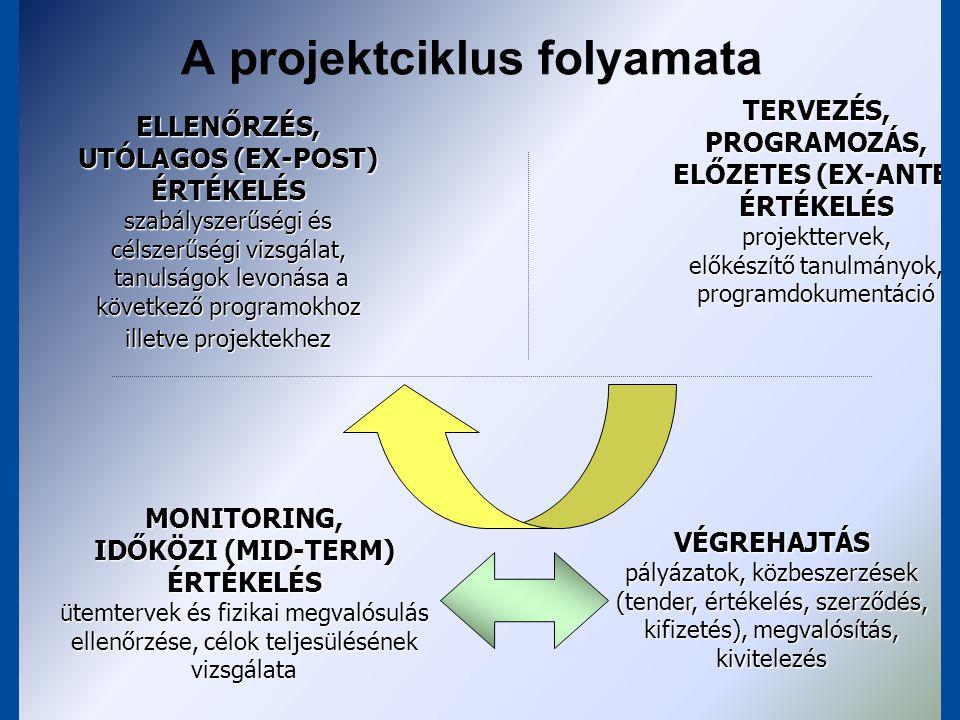 A projektciklus folyamata