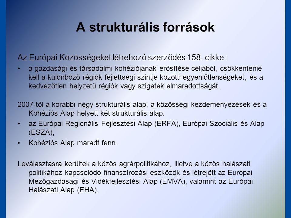 A strukturális források