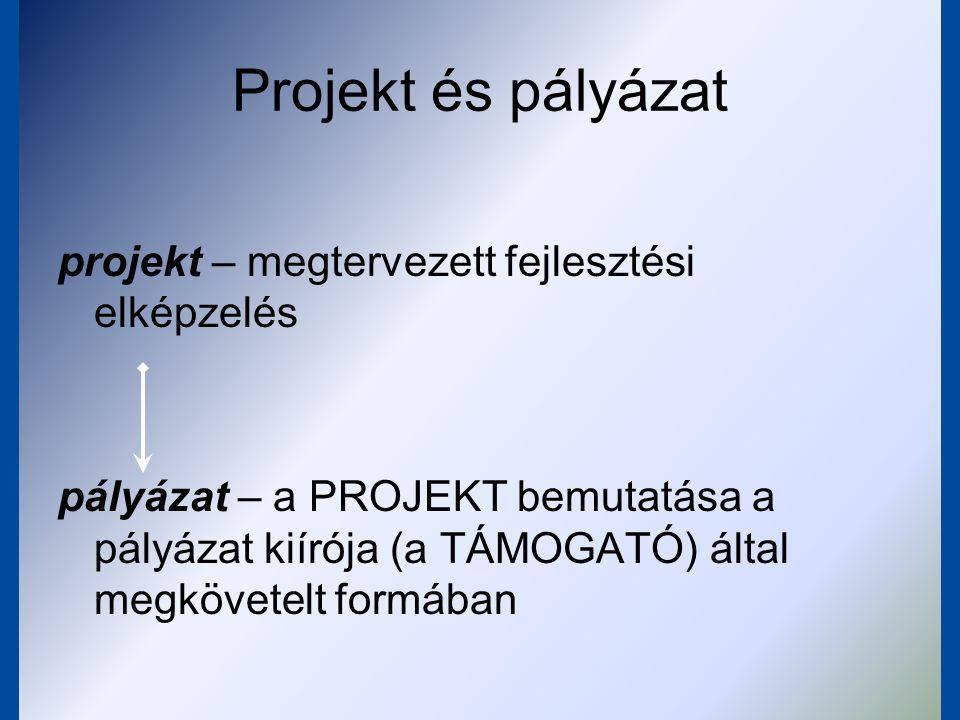 Projekt és pályázat