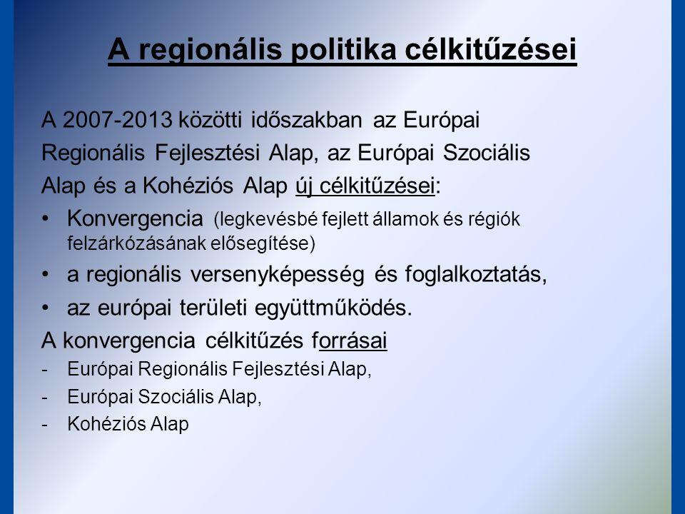 A regionális politika célkitűzései
