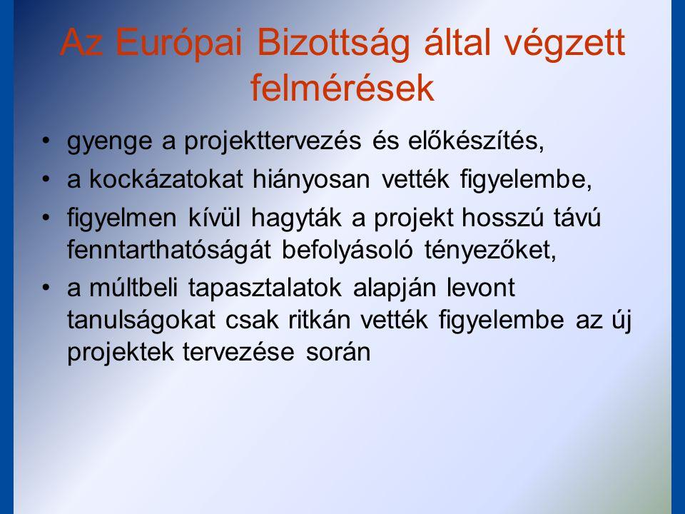 Az Európai Bizottság által végzett felmérések