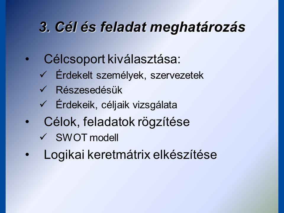 3. Cél és feladat meghatározás