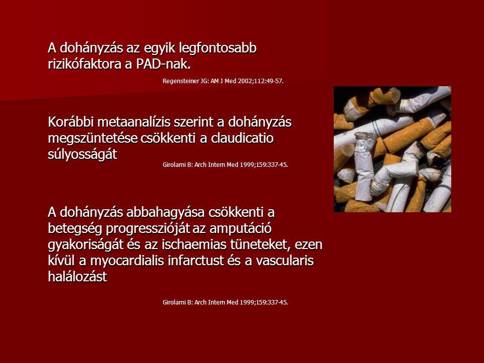 A dohányzás az egyik legfontosabb rizikófaktora a PAD-nak.