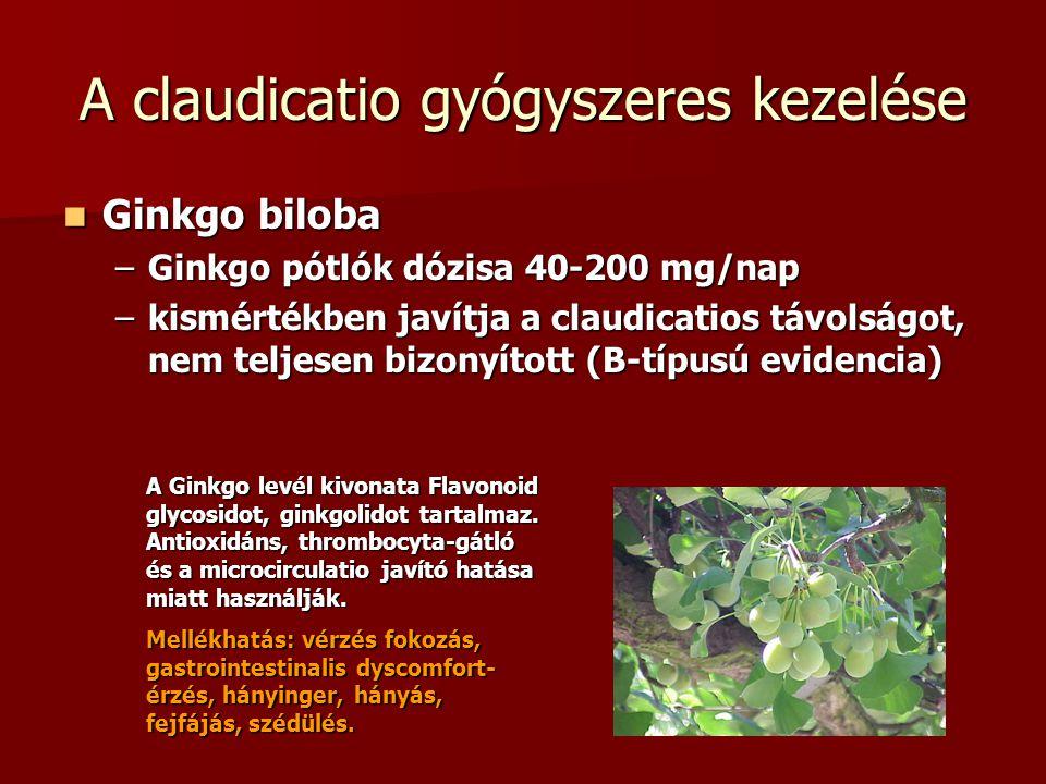 A claudicatio gyógyszeres kezelése