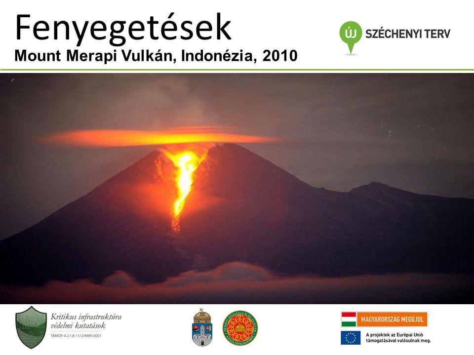 Fenyegetések Mount Merapi Vulkán, Indonézia, 2010