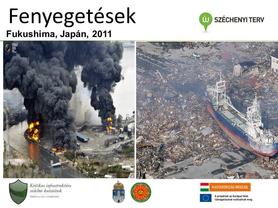 Fenyegetések Fukushima, Japán, 2011