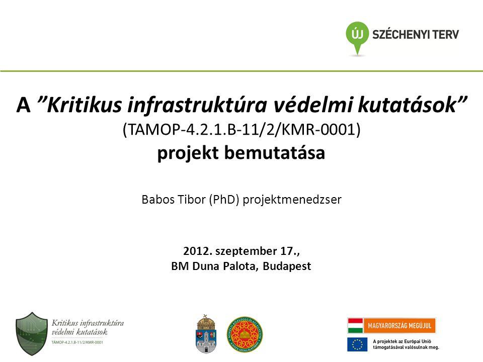 A Kritikus infrastruktúra védelmi kutatások BM Duna Palota, Budapest
