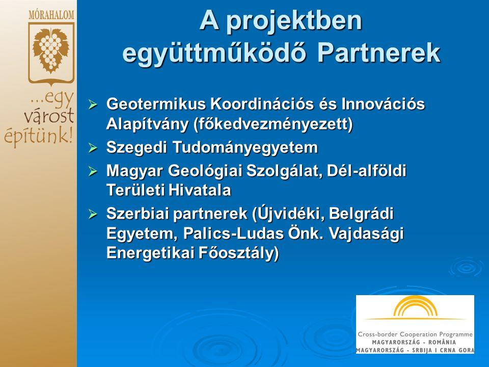 A projektben együttműködő Partnerek