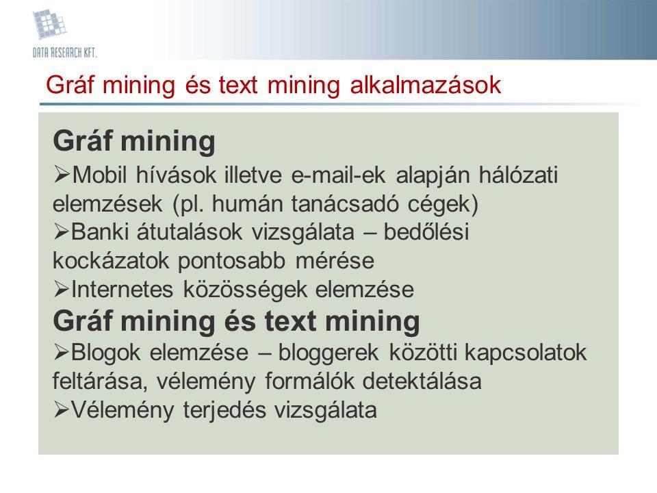 Gráf mining és text mining