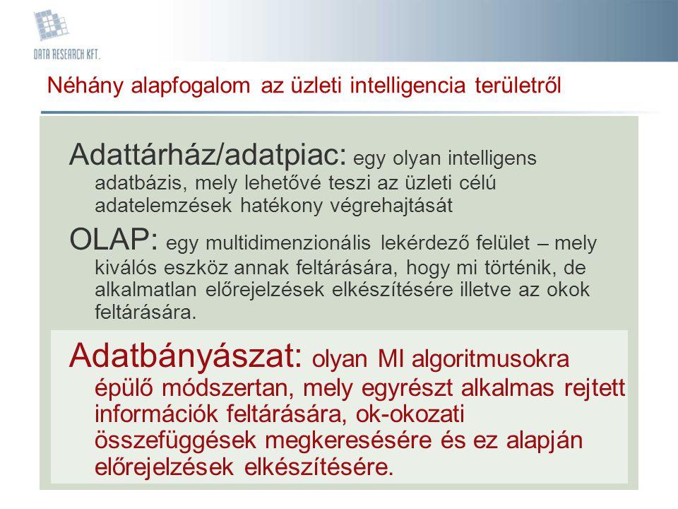 Néhány alapfogalom az üzleti intelligencia területről