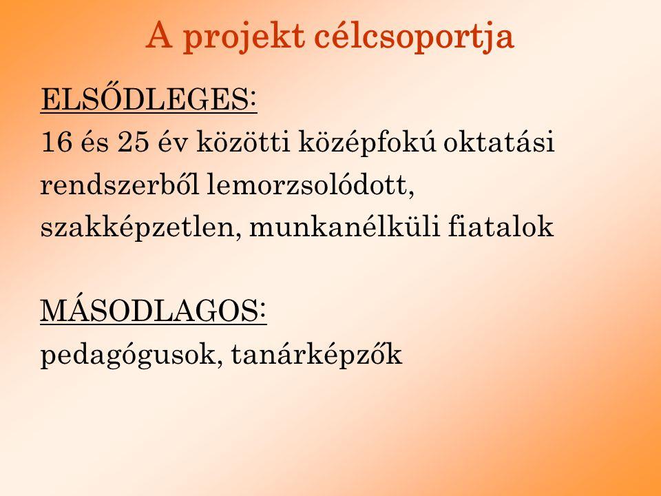 A projekt célcsoportja