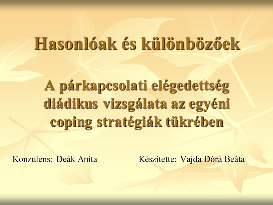 Konzulens: Deák Anita Készítette: Vajda Dóra Beáta