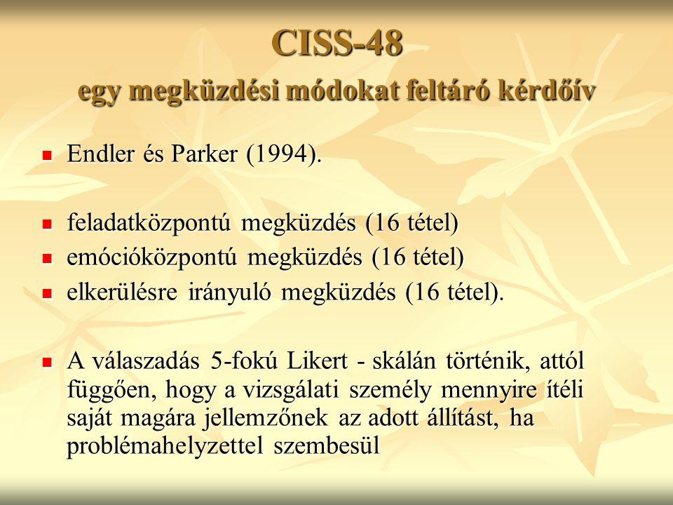CISS-48 egy megküzdési módokat feltáró kérdőív