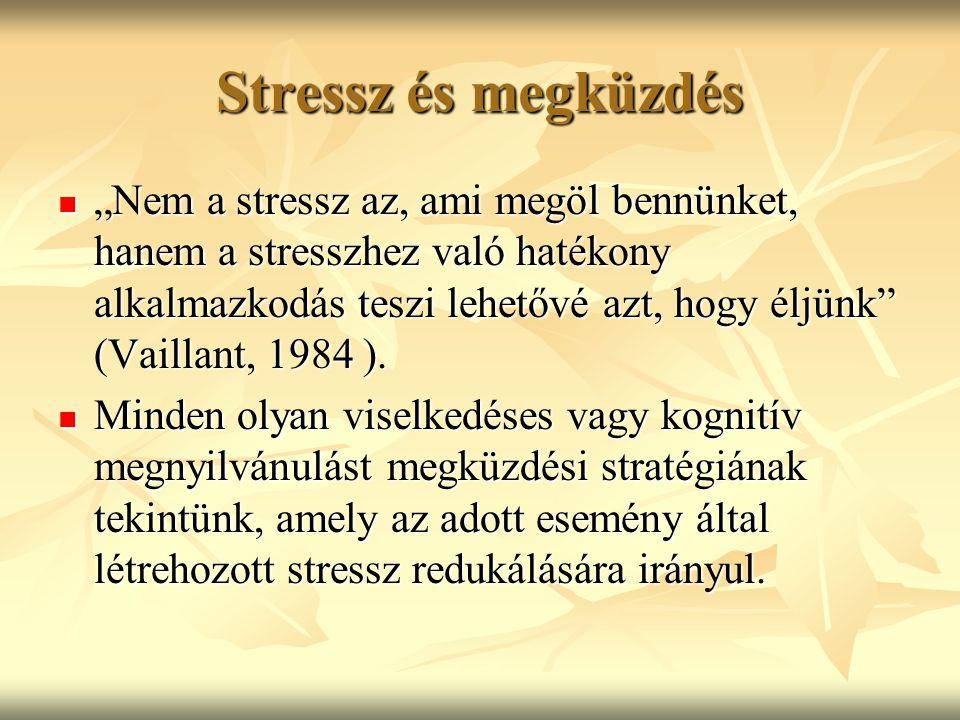 Stressz és megküzdés