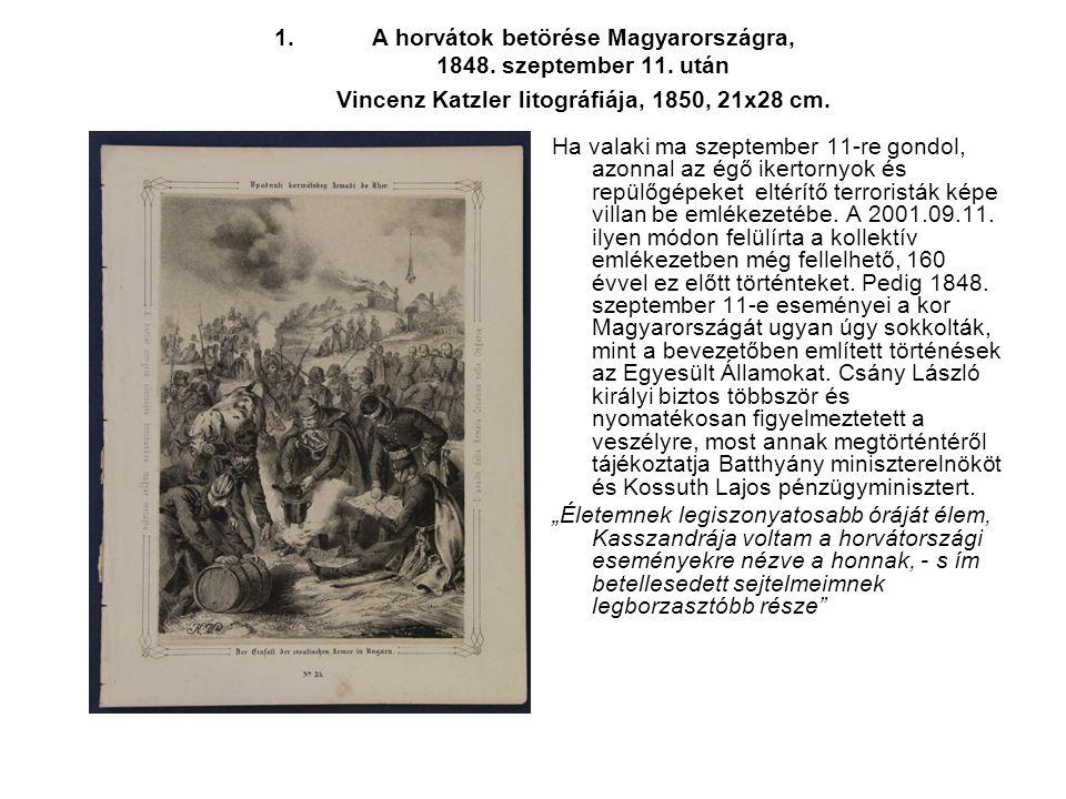 A horvátok betörése Magyarországra, 1848. szeptember 11