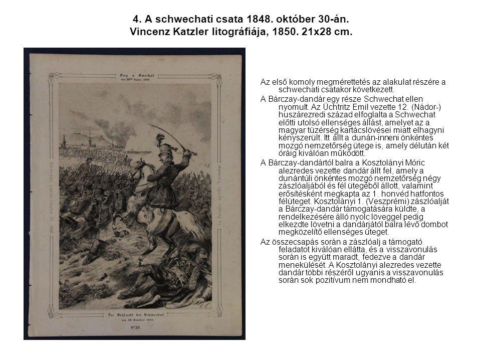 4. A schwechati csata 1848. október 30-án