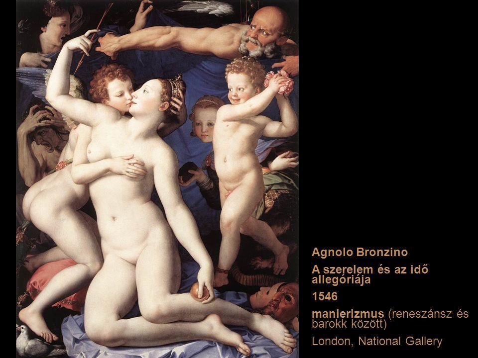 Agnolo Bronzino A szerelem és az idő allegóriája. 1546. manierizmus (reneszánsz és barokk között)