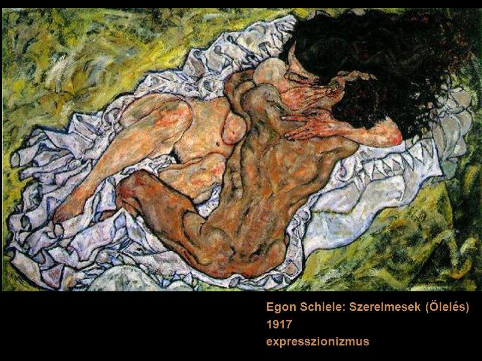 Egon Schiele: Szerelmesek (Ölelés)