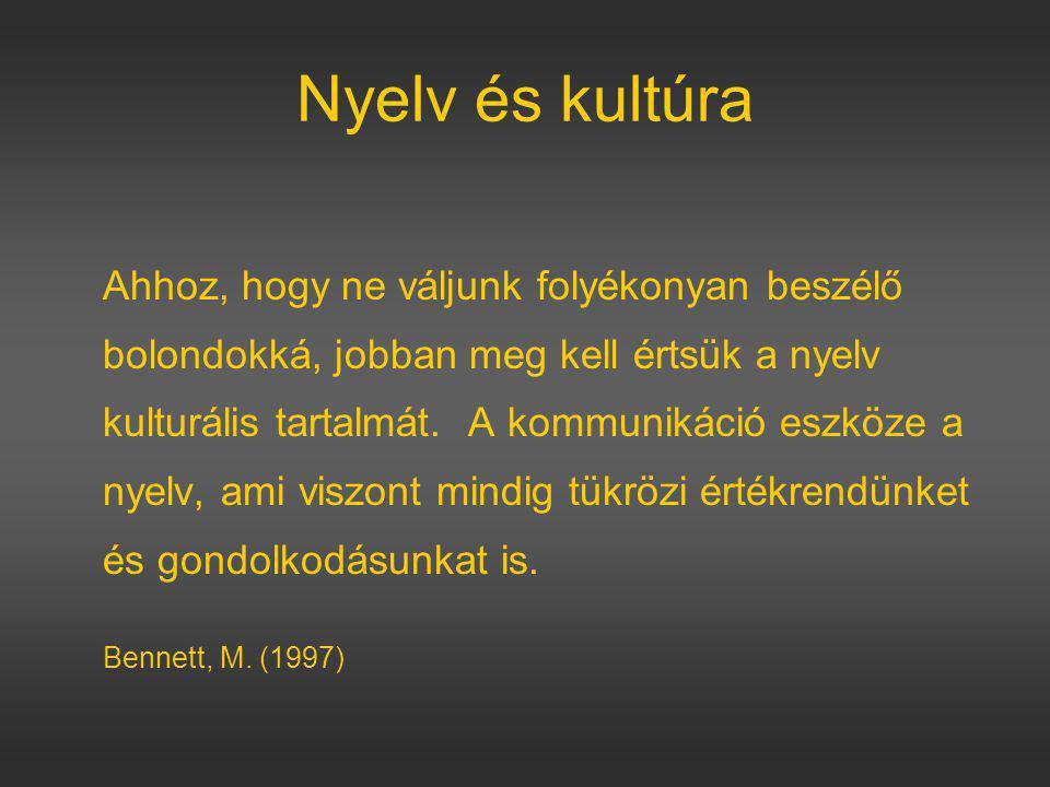 Nyelv és kultúra