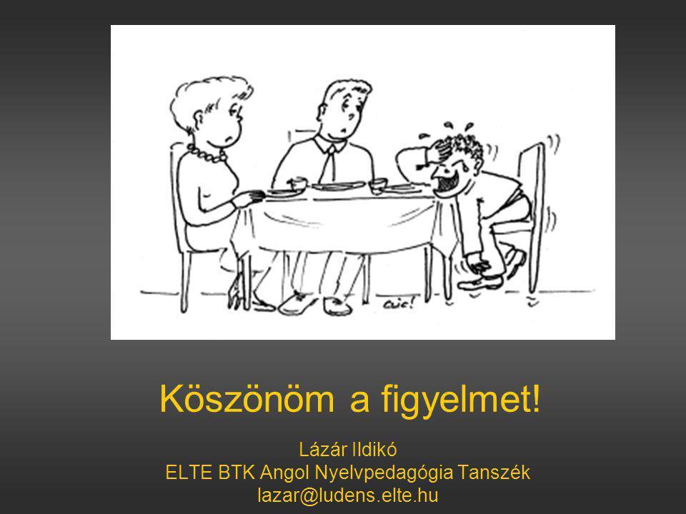 ELTE BTK Angol Nyelvpedagógia Tanszék