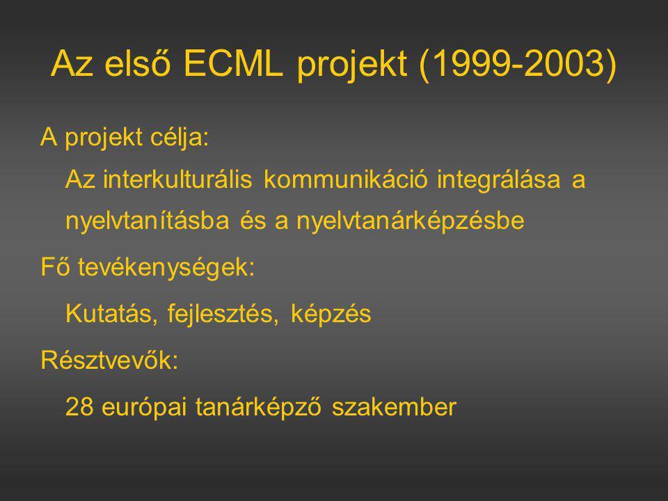 Az első ECML projekt (1999-2003)