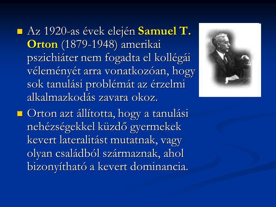 Az 1920-as évek elején Samuel T
