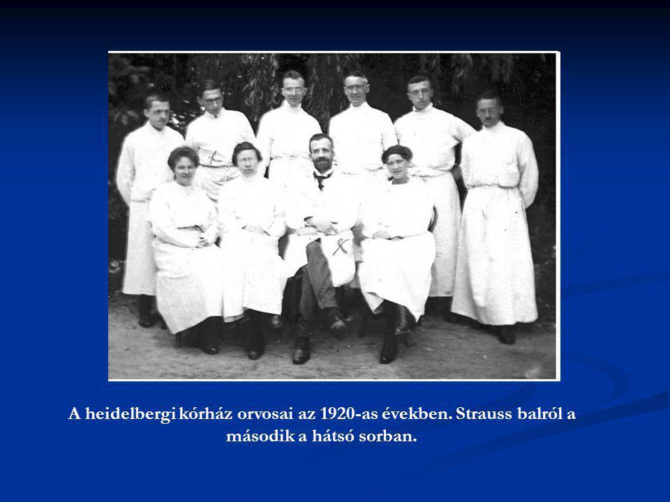 A heidelbergi kórház orvosai az 1920-as években
