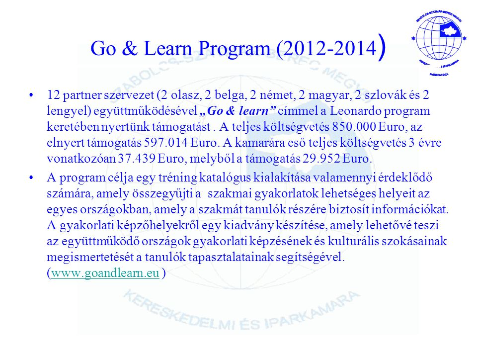 Go & Learn Program (2012-2014)