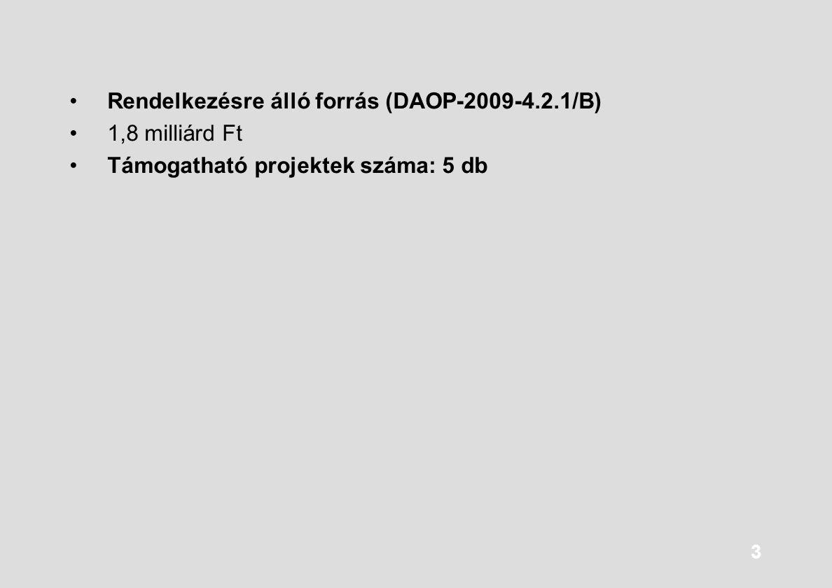 Rendelkezésre álló forrás (DAOP-2009-4.2.1/B)