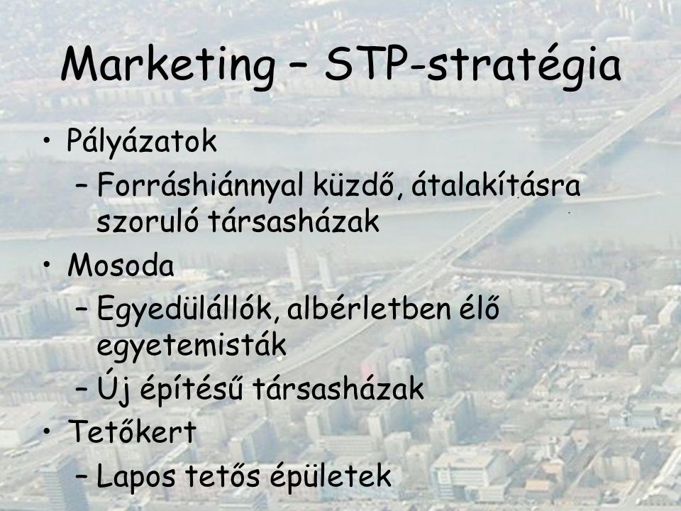 Marketing – STP-stratégia